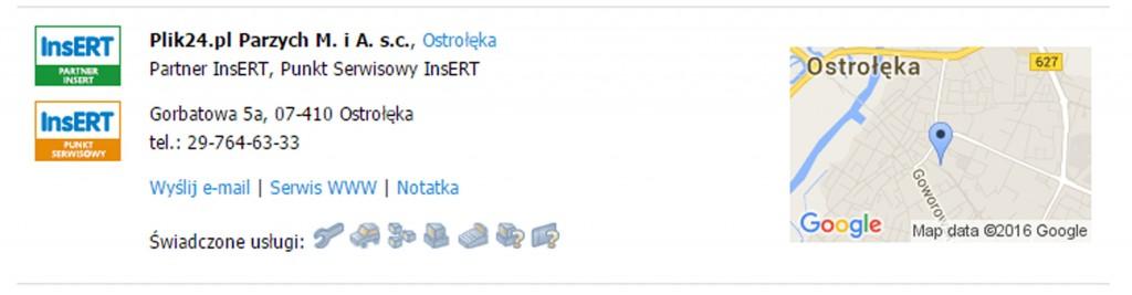 Punkt serwisowy insert Ostrołęka